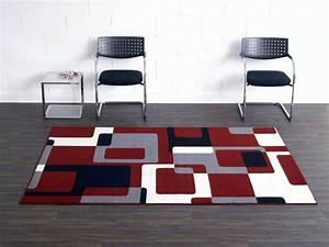 Teppich Rot Grau Schwarz : designer velours teppich retro rot grau schwarz creme ~ Bigdaddyawards.com Haus und Dekorationen