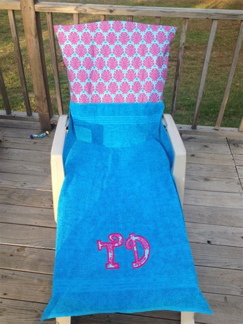 9 best images about monogrammed lounge chair covers
