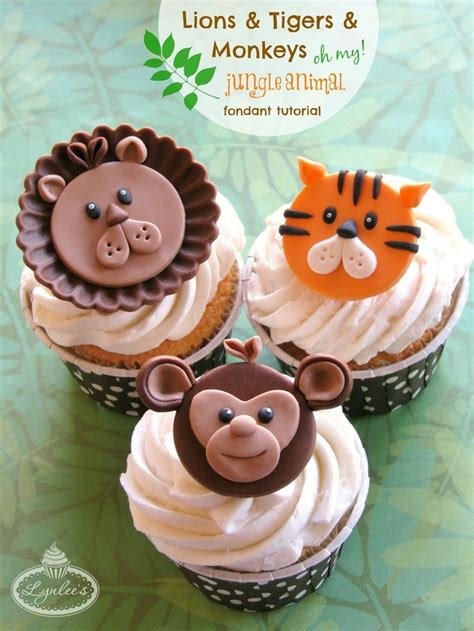 wild   jungle animal cupcake toppers cakecentralcom