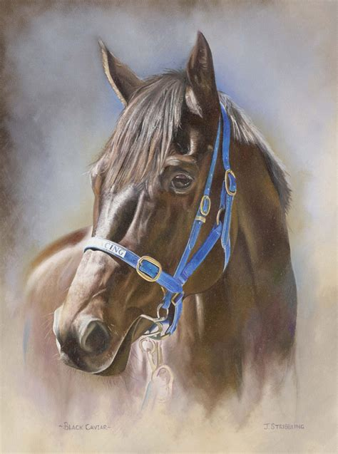 black caviar print limited edition horse racing painting
