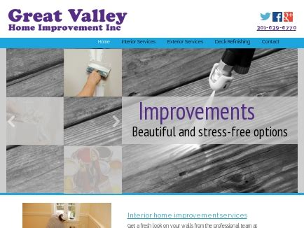 Great Valley Home Improvement Inc  Painting  New Market, Md