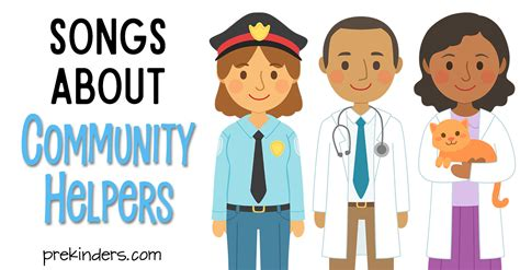 community helper songs for prekinders 421 | community songs fb