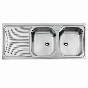 Evier Pour Cuisine : evier ondula oex621 pour cuisine a encastrer 2 cuves avec gouttoir r versible franke ~ Carolinahurricanesstore.com Idées de Décoration