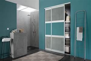 des rangements fonctionnels dans votre salle de bain With porte de douche coulissante avec amenagement placard salle de bain