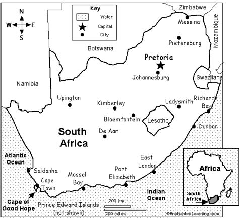 south africa map coloring sheet coloring pages