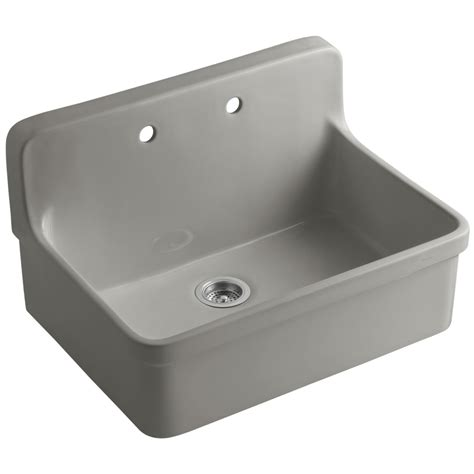 Shop Kohler Gilford Single Basin Drop In Porcelain Kitchen