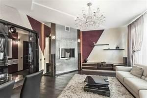 Wohnzimmer Mit Schräge : wohnzimmerw nde mit farbe gestalten schr ge streifen mit 3 farben wohnzimmer ~ Orissabook.com Haus und Dekorationen