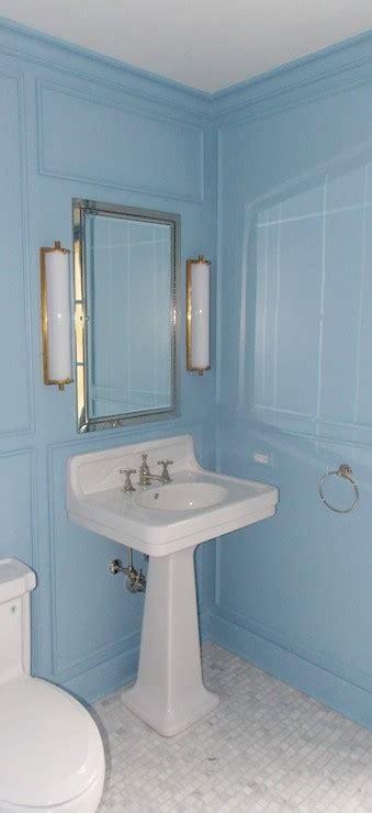 lulworth blue transitional bathroom farrow  ball