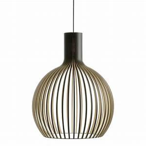 Pendelleuchte Aus Holz : secto octo 4240 schwarz design pendelleuchte aus holz dorfhaus ~ Lizthompson.info Haus und Dekorationen