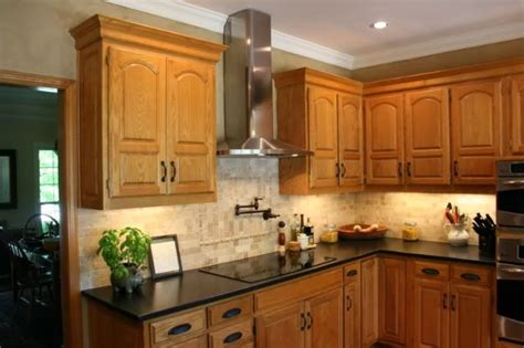 honey oak kitchen cabinets with granite countertops granite with oak what color light or dark kitchens