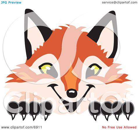 clipart foto clipart picture of a fox mascot character peeking