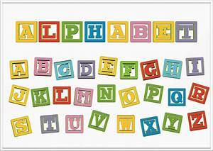 clipart alphabet letter blocks With blocks with letters