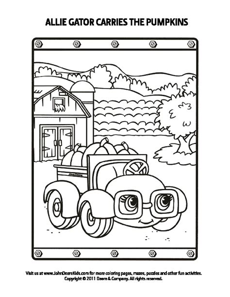 free coloring pages of john deere gator