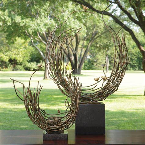 global views birds nest sculptures figurines  hayneedle