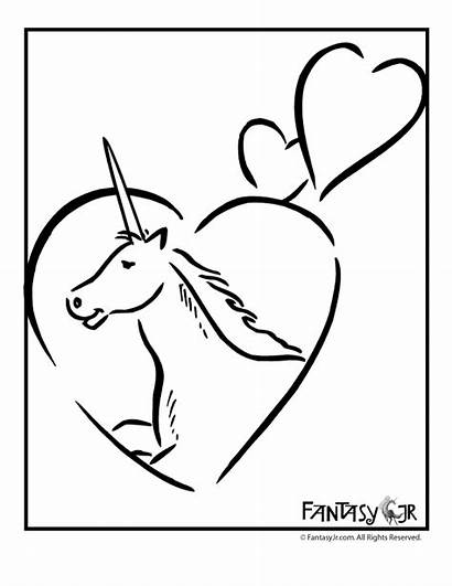 Coloring Pages Unicorn Grade 4th Multiplication Hearts