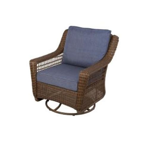 home depot outdoor rocking chair cushions hton bay brown all weather wicker patio