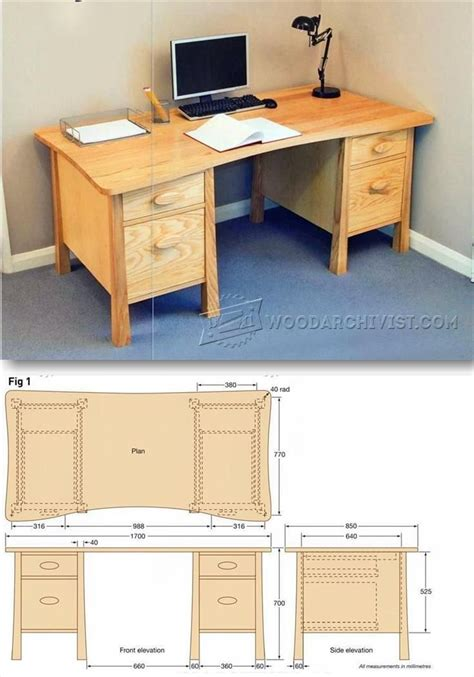 how to build a computer desk from scratch twin pedestal desk plans furniture plans and projects