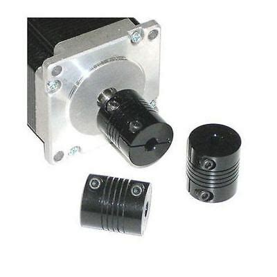 flex shaft coupling cnc  servo stepper motor mm coupler black ebay