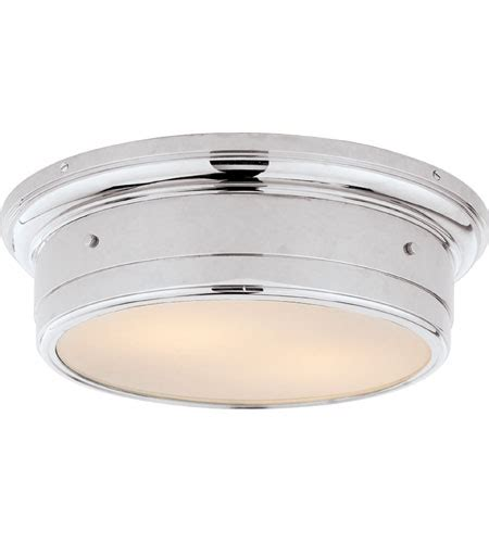 chrome flush mount ceiling light visual comfort studio siena 2 light flush mount in chrome
