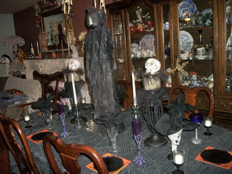 halloween table decor home decor pinterest