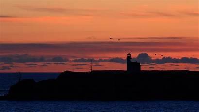 4k Lighthouse Sunset Ocean Desktop Ultra Seagulls