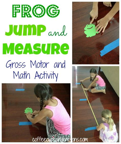 frog jump measurement and gross motor activity 360 | Frog Jump Gross Motor and Math Activity for Preschool