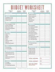 monthly budget template diy projects monthly