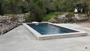 piscine beton 6 x 3 fond plat 15m avec mur filtrant a With piscine avec liner gris clair 1 nos realisations avec liner gris clair reynaud piscines