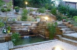 3 moyens dapprivoiser un jardin en pente jardinier conseil With attractive amenagement autour de la piscine 11 piscine en pente