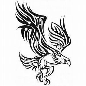 Falcon Tribal Tattoo