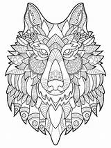 Coloring Wolf Adults Adult Mycoloring Printable Wolves Teens sketch template