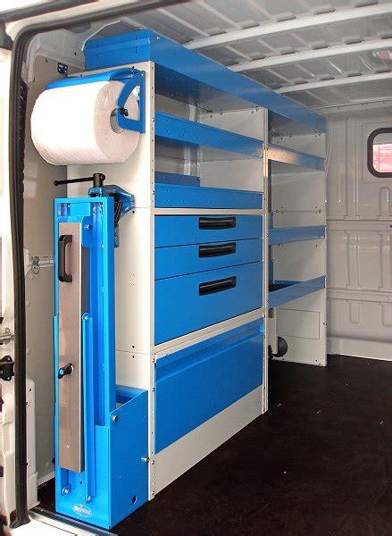 scaffali per officina furgone jumper con allestimenti syncro a torino