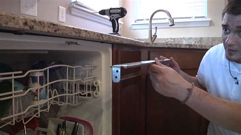 dishwasher installation granite countertop dishwasher bracket installation