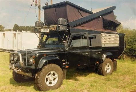 sold landrover defender  expedition vehicle pop top