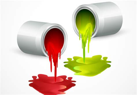 Paint Bucket Vectors With Colors  Download Free Vector