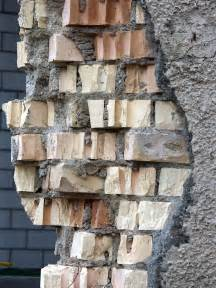 crumbling brick wall stock photo freeimagescom