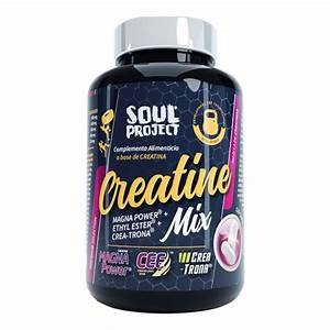 Creatine Mix - 120 Capsulas - Soul Project