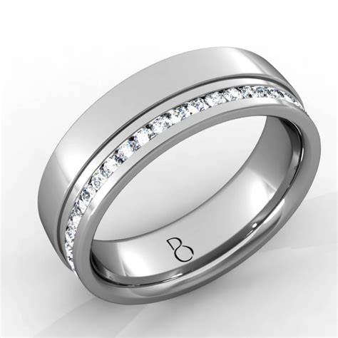 platinum 950 mens wedding band 0 45ct boutique