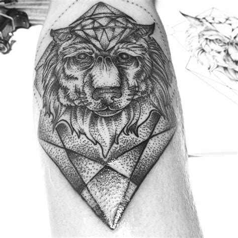 amazing geometric dotwork wolf tattoos tattooblend