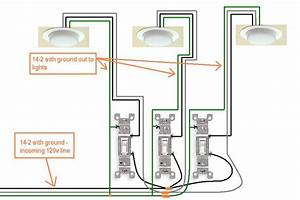 3 Gang Light Switch Wiring Diagram