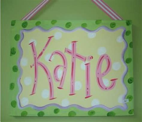 personalized canvas  art katie