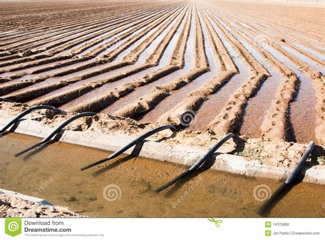 Irrigation Canal & Siphon Tubes Stock Image
