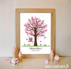 Arbre A Empreinte : bapt me arbre empreintes naissance b b enfant anniversaire baby shower fichier ~ Preciouscoupons.com Idées de Décoration