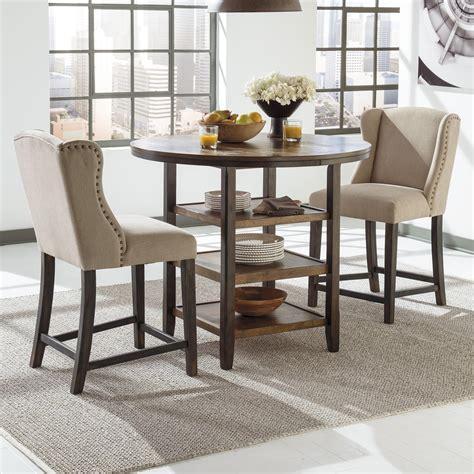 bar dining table set ashley signature design moriann 3 piece counter table set