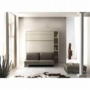 Lit Armoire Canapé : armoire lit loft avec canap ~ Teatrodelosmanantiales.com Idées de Décoration