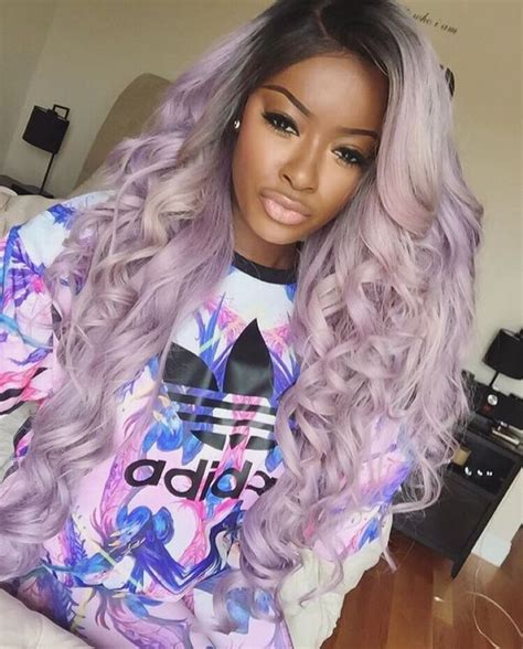 purple hairstyles  light blue hair color ides
