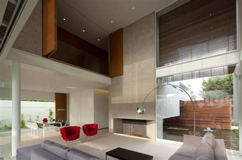 T shaped Contemporary Mexican House   Modern House Designs