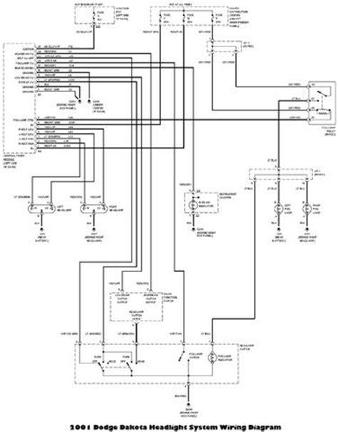 2001 dodge dakota headlight system wiring diagram circuit wiring diagrams