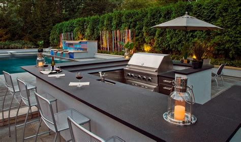 modern outdoor bbq patio contemporary with integrated