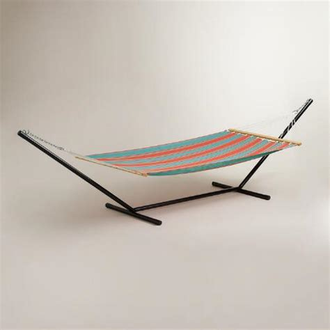 world market hammock blue striped hammock and stand world market